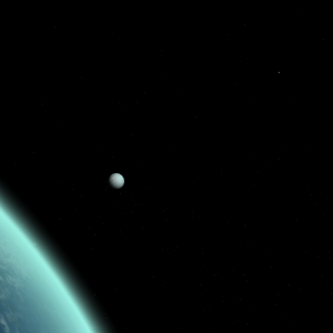[55 Cancri system] An orbital view from Mare Infinitus, facing the gas giant Tetra.