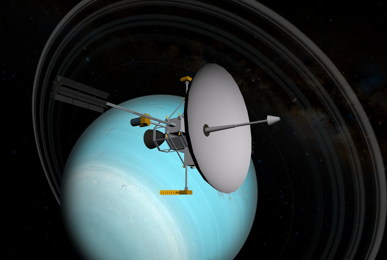 what spacecraft visited neptune - photo #14